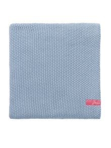 Joules Moss stitch throw 140x200cm powder blue
