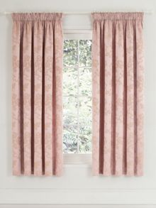 Viennese rose lined curtains 66x72 pink