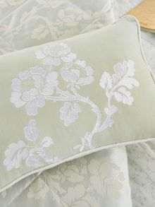 Viennese rose cushion 30x40cm mint