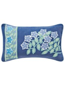 Columbine cushion 30x50cm periwinkle blue