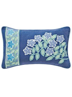 V&A Columbine cushion 30x50cm periwinkle blue