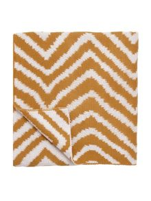 Scion Snow drop zig zag throw, ochre