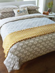 Snow drop zig zag throw, ochre
