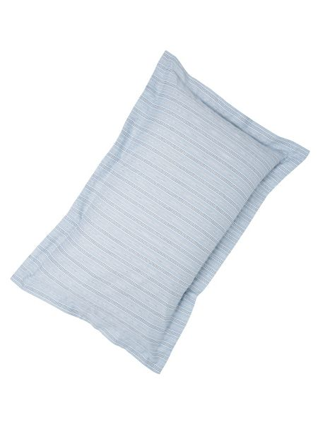 Fable Darcy stripe oxford pillowcase sky blue
