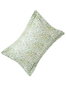 Morris & Co Willow bough oxford pillowcase sage green