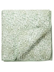 Willow bough quilted throw sage green