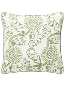 Morris & Co Willow bough jane`s daisy sage green cushion