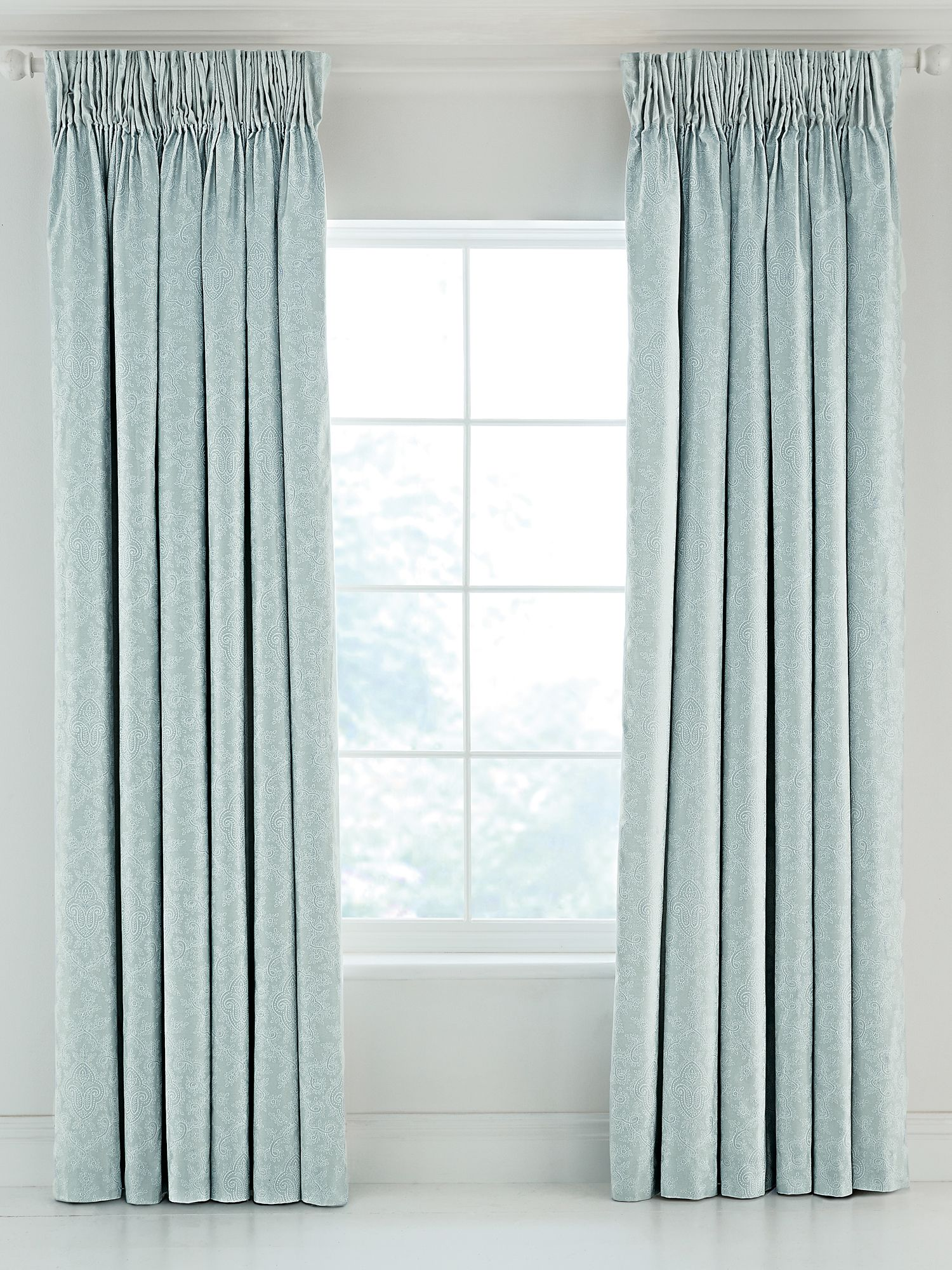 Fable Fable Callista lined curtains 90x90 duck egg