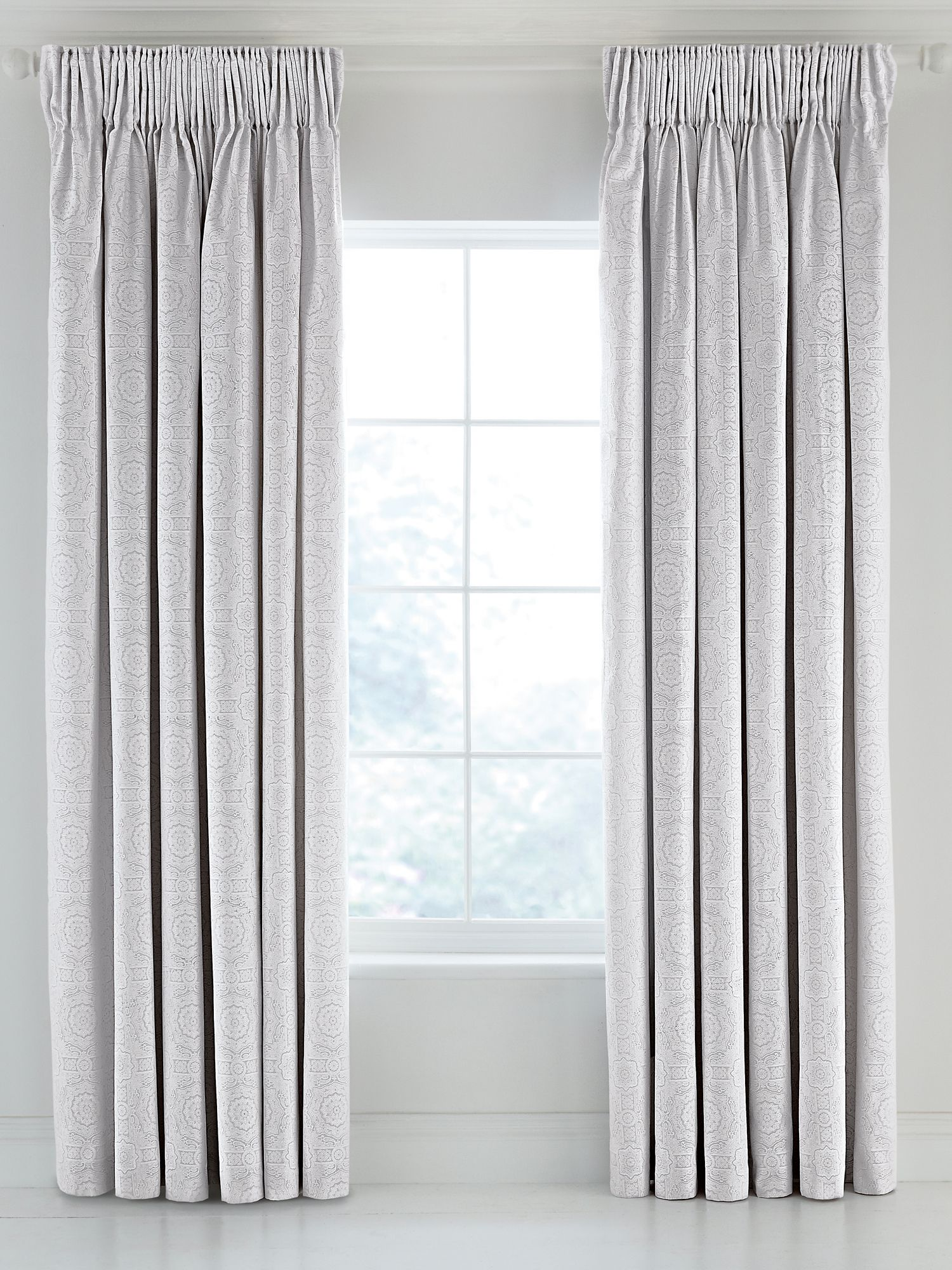 Fable Fable Beaumont lined curtains 66x72 silver