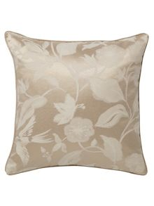 Bird blossom cushion 40x40cm natural