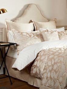 Bird blossom double fitted sheet natural