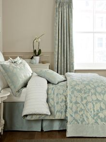 Bird blossom double fitted sheet sky