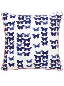 Butterfly floral cushion 40x40 bonnie blue