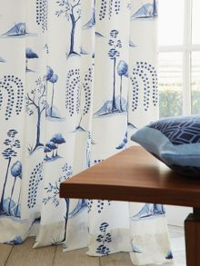 Sanderson Willow tree lined curtains 66x72 in blue