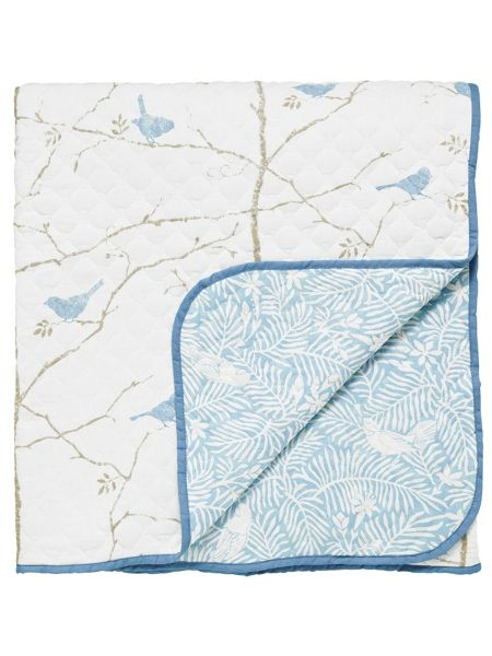 Sanderson Dawn chorus throw 265x260cm mineral blue