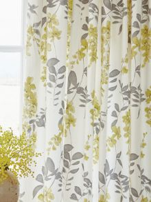 Sanderson Wisteria blossom lined curtains 66x72