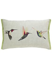 Harlequin Paradise birds cushion  50x30cm multi