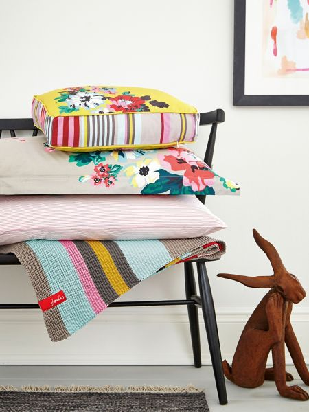 Joules Multi stripe blanket 140x200 country colour