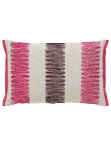Harlequin Paradise embroidered cushion 50x30cm flamingo