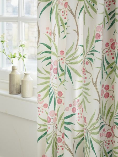 Sanderson Arberella lined curtain 66x72 in rose