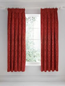 V&A Moresque lined curtains 66x72 russet