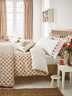 Rose cottage duvet cover set