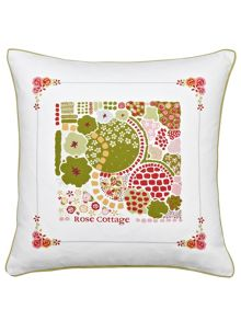 Julie Dodsworth Rose cottage cushion 40x40cm multi