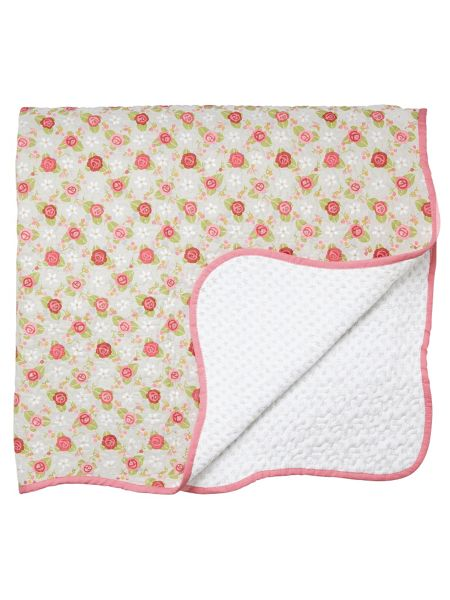 Julie Dodsworth Rose cottage throw 230x265cm multi