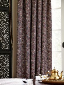 V&A Sundara lined curtains 66x72 (168x183cm) navy