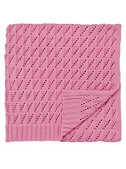 Time to nest throw 130x150cm pink