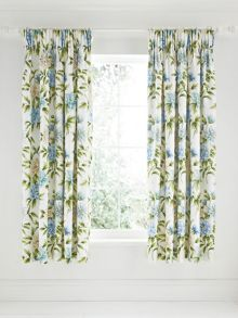 Ella lined curtains 66x72 in aqua