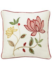 Pondicherry cushion 40 x 40cm red