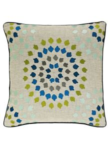 Harlequin Bahia embroidered cushion 45x45cm zest