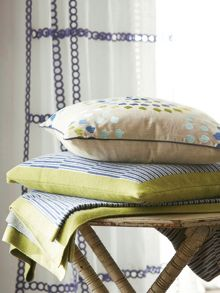 Harlequin Bahia knitted cushion 45x45cm zest