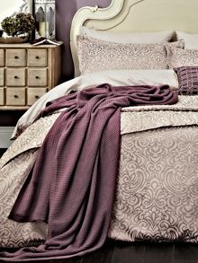 Bedeck 1951 Atara knit throw 140x200cm mauve