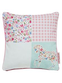 Sanderson Little Sanderson Pretty ponies cushions blue