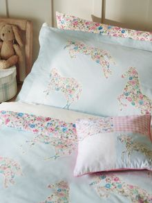 Little Sanderson Pretty ponies cushions blue