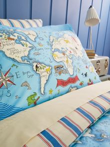 Sanderson Little Sanderson Treasure map duvet cover set