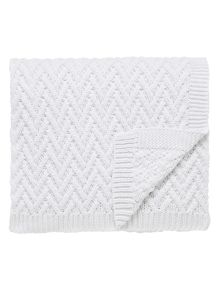 Fable Larra knit throw 140x200cm white