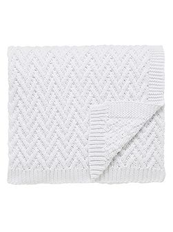 Larra knit throw 140x200cm white