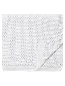 Fable Talcy knit throw 140x200cm white