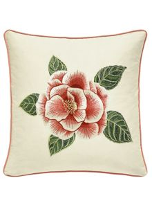 Sanderson Christabel cushion 40x40cm coral