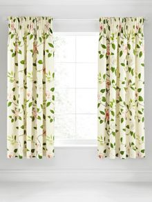 Christabel lined curtains 66x72 (168x183cm) coral