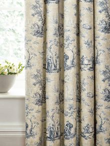 Josette lined curtains 66x72 (168x183cm) indigo