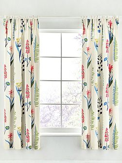 Floral bazaar 66X72 lined curtains raspberry