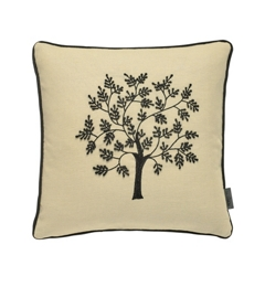 Morris & Co Morris Seaweed Black Tree Cushion