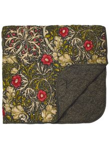 Morris & Co Morris seaweed 265X260cm throw black
