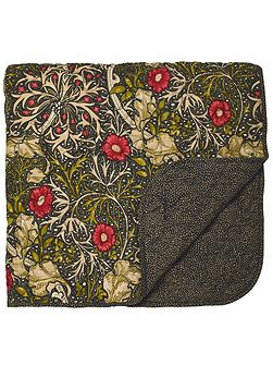 Morris seaweed 265X260cm throw black
