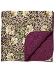 Morris & Co Pimpernel 265X260cm throw aubergine