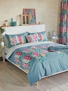 Sanderson Hollyhocks duvet cover